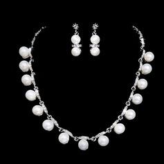 Elegante Liga/Pérola com Strass Mulheres Conjuntos de jóias