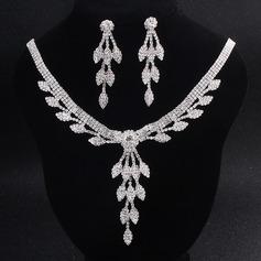 Elegante Diamantes de imitación con Rhinestone Señoras' Sistemas de la joyería