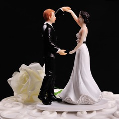 Estatueta Dança do casal Resina Casamento Decorações de bolos