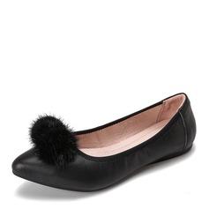 Kvinnor Äkta läder Flat Heel Platta Skor / Fritidsskor Stängt Toe skor