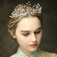 Estilo clásico Rhinestone/La perla de faux Tiaras