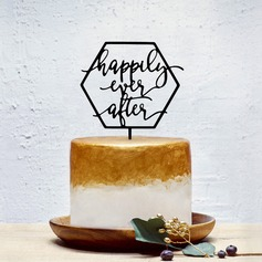 """HAPPY"" Akryl Kake Topper"