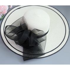 Ladies ' Særlige/Glamourøse/Elegant/Enkle/Iøjnefaldende/Fancy Raffia Straw med Imitation Butterfly Strand / Sun Hatte