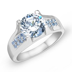 Charming Zircon/Platinum Plated Ladies' Rings