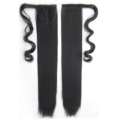 Tout droit cheveux synthétiques Queues de cheval (Vendu en une seule pièce) 80g