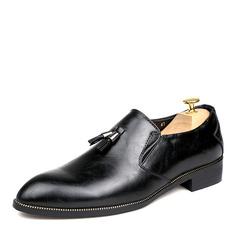 Mænd Microfiber Læder Tassel Loafer Casual Hyttesko til Herrer