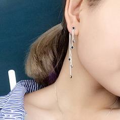 Mode Cristal/Cuivre avec Cristal Boucles d'oreilles