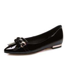 De mujer Piel Tacón plano Planos Cerrados zapatos