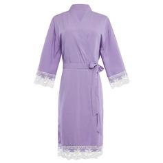 Brud Brudtärna Bomull med Knälång Kimono kläder