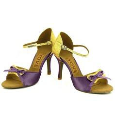 Femmes Talons Sandales Latin avec Lanière de cheville Chaussures de danse