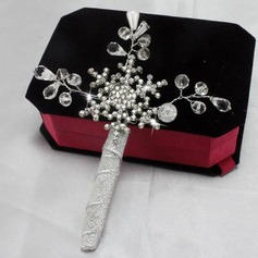 Pure Hand-tied Satin Boutonniere/Men's Accessories