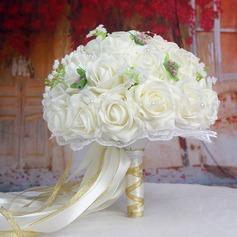 Satiné Bouquets de mariée/Bouquets de demoiselle d'honneur -
