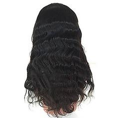 4A Ej remy Vågig Mänskligt hår Lace Front Parykar
