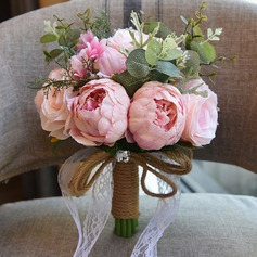 Van Gairly Ronde Satijn Bruids Boeketten/Bruidsmeisje Boeketten (verkocht als één geheel) - Bruids Boeketten