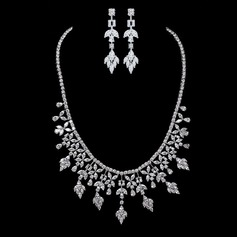 Сияющий медь/Циркон женские Комплекты ювелирных изделий