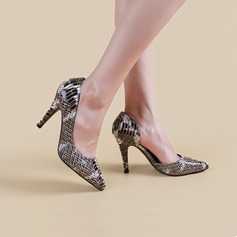 Vrouwen Kunstleer Stiletto Heel Pumps Closed Toe schoenen