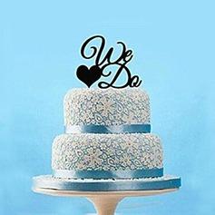 Letra lo hacemos Acrílico Boda Decoración de tortas