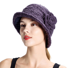 Ladies' Elegant/Unique Wool With Silk Flower Bowler/Cloche Hats