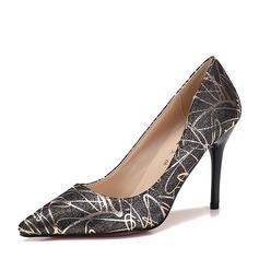 De mujer Cuero Tacón stilettos Salón Cerrados zapatos