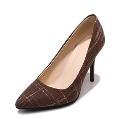 Femmes Tissu Talon stiletto Escarpins Bout fermé chaussures