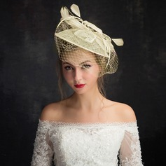 Dames Style Classique Feather/Fil net/Dentelle/Tulle avec Feather Chapeaux de type fascinator/Chapeaux Tea Party