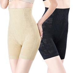 Mulheres Chinlon/Nailon Cintura Alta Meio Corpo Calcinha shaper do corpo
