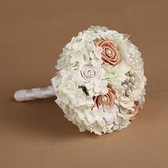 Sweet Round Satin/Silk Bridal Bouquets -