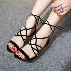 De mujer Cuero Tacón stilettos Sandalias Encaje con Cordones zapatos