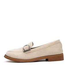 Женщины Замша Плоский каблук На плокой подошве Закрытый мыс обувь
