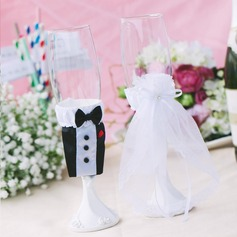 Lovely Da noiva e do noivo Cetim Copa conjuntos