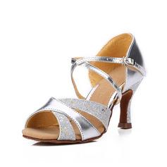 Kvinnor Konstläder Glittrande Glitter Sandaler Latin Dansskor