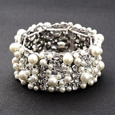 På mode Legering/Rhinsten/Imiteret Pearl Ladies ' Armbånd