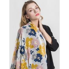 Bloemen lichtgewicht/te groot/mode Polyester Sjaal