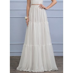 Separates Floor-Length Chiffon Wedding Dress