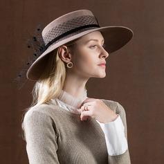 Damen Einfache/Nizza/Fantasie Wollen mit Tüll Schlapphut