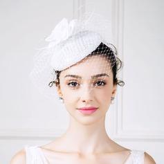 Dames Style Classique Fil net avec Feather/Fleur en soie/Strass Chapeaux de type fascinator
