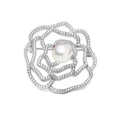 Flor em forma Cobre/Zircon/Platinadas Senhoras Corpo de jóias