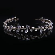 Señoras Glamorosa La perla de faux/Acrílico Diademas