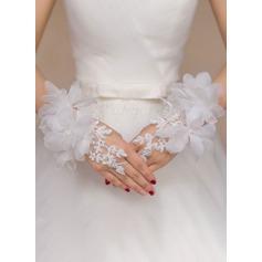 Polyester Håndleddet Lengde Brude Hansker