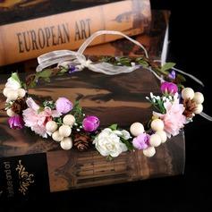 Senhoras Elegante Flor de seda Tiaras