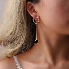 Unique Alliage Femmes Boucles d'oreille de mode