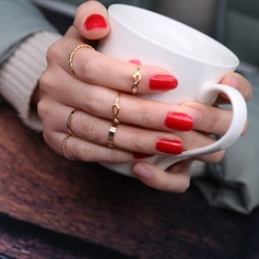 Vackra Och Legering Damer' Mode Ringar (Sats om 6)