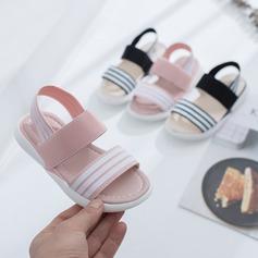 Fille de À bout ouvert escarpin-sandale Tissu talon plat Sandales Chaussures plates Sneakers & Athletic