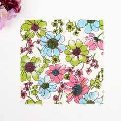 Flower Pattern Dinner Napkins