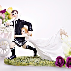 """Love Match"" Couple Resin Wedding Cake Topper"