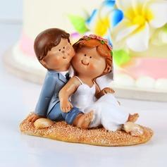Kul på stranden Harts Bröllop Tårtdekoration