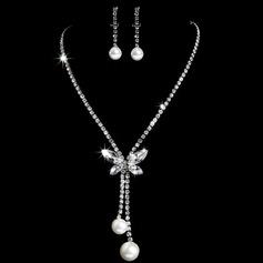 Elegante Liga/Strass com Pérola Senhoras Conjuntos de jóias