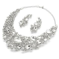 Shining Alloy/Rhinestones Ladies' Jewelry Sets