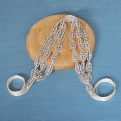 Damer Enastående Satäng Pannband med Strass (Säljs i ett enda stycke)