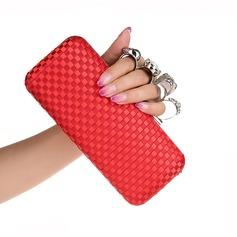 Elegante Seda Embreagens/Bolsas de Mão
